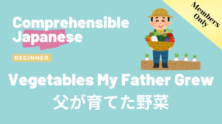 父が育てた野菜 Vegetables My Father Grew